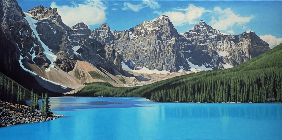 Moraine Lake Summer Ron Parker